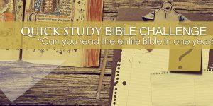 Quick Study 2018 | Bible Challenge!