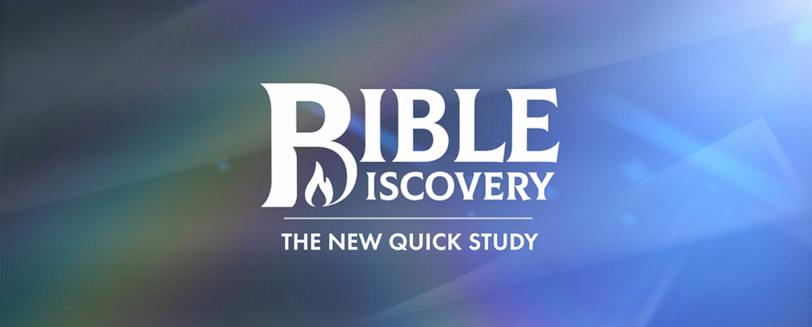 Quick Study is now Bible Discovery! Watch the 1st show of the year.